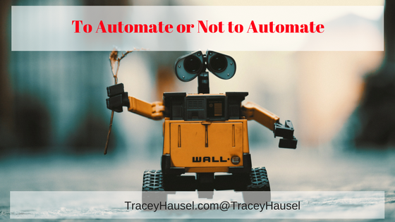 To Automate or Not to Automate- Automation Robot