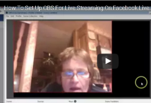 how to set up obs for live streaming on face book