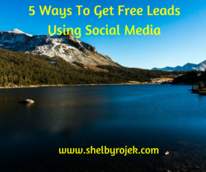 5 Ways To Get Free Leads Using Social Media