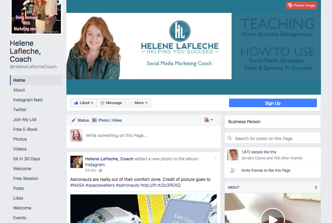 New Facebook Pages - View as visitor