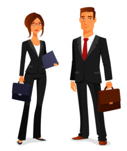 41708638 - young man and woman in elegant business suit