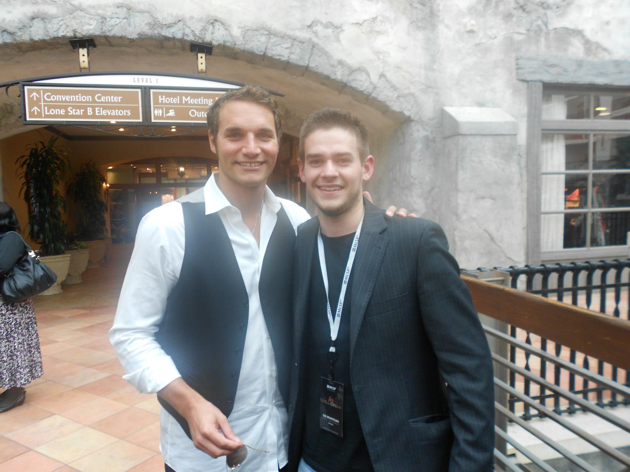 Seb Brantigan With Jonathan Budd at Live the Dream in Dallas Texas