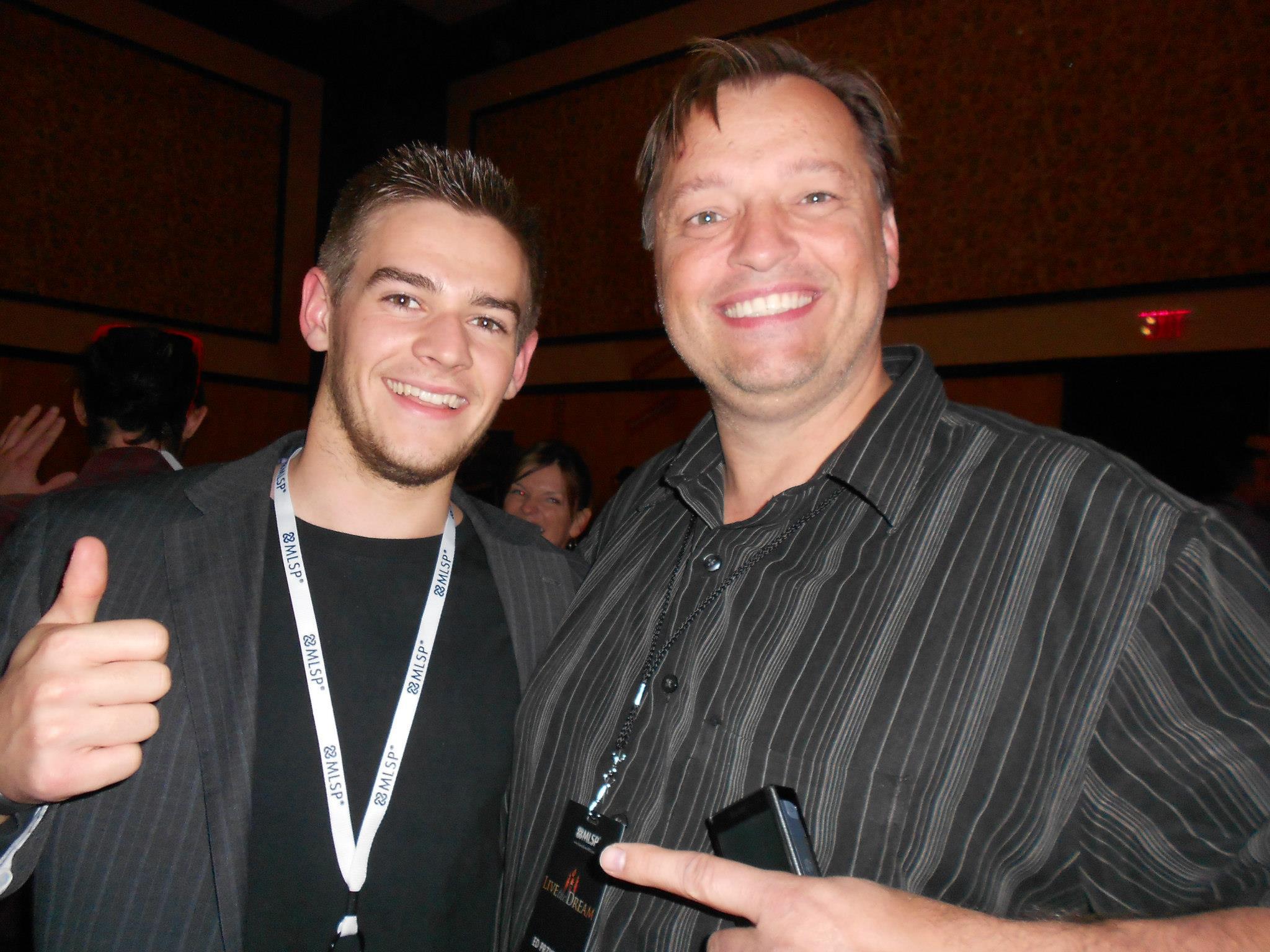 Seb Brantigan, 6 fig earner Ed Przybylski at Live the Dream in Dallas Texas