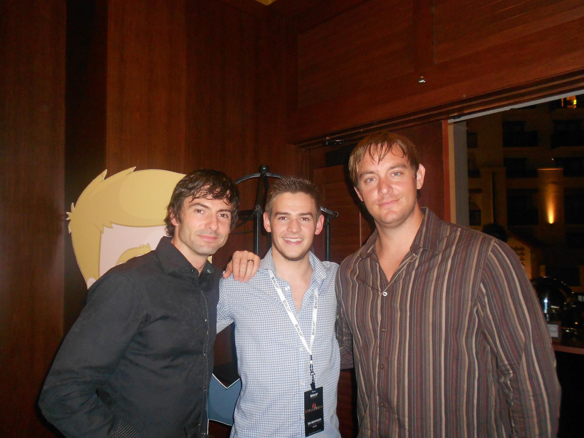 Seb Brantigan, Ryan Angelo and Norbert Orlewicz at Live the Dream in Dallas Texas