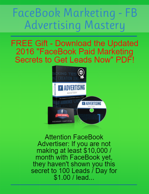 FB Advertising Mastery