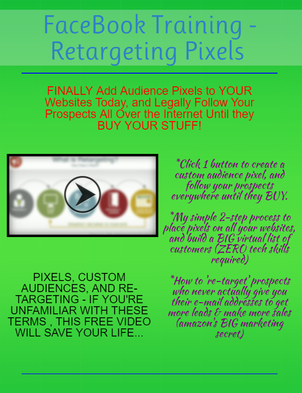 Retargeting Pixels Training