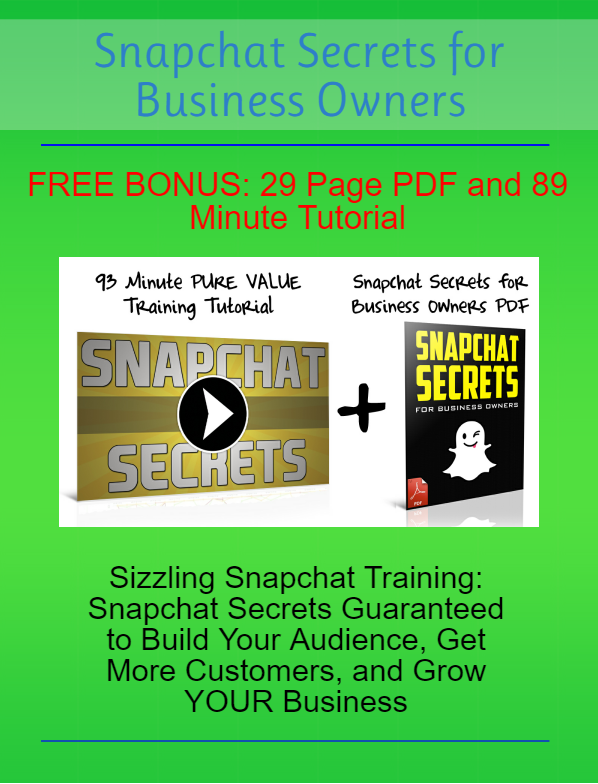Snapchat Secrets Training
