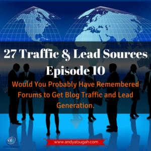 forums to get blog traffic