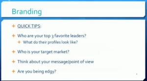 2. Branding Tips
