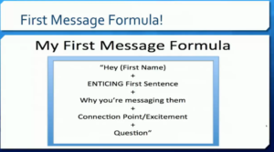 8. 1st message formula