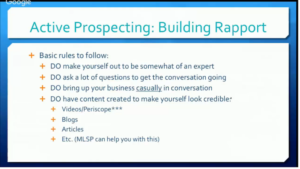 12. Rapport-basic rules
