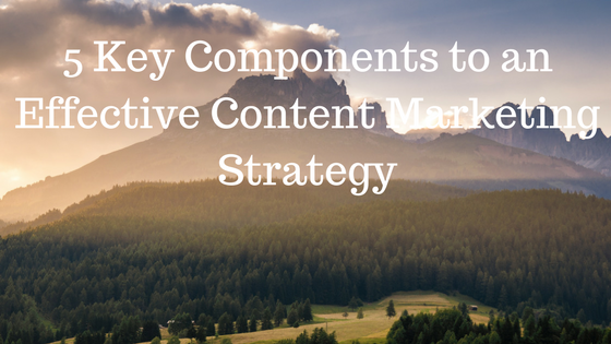 5 Key Components to an Effective Content Marketing Strategy