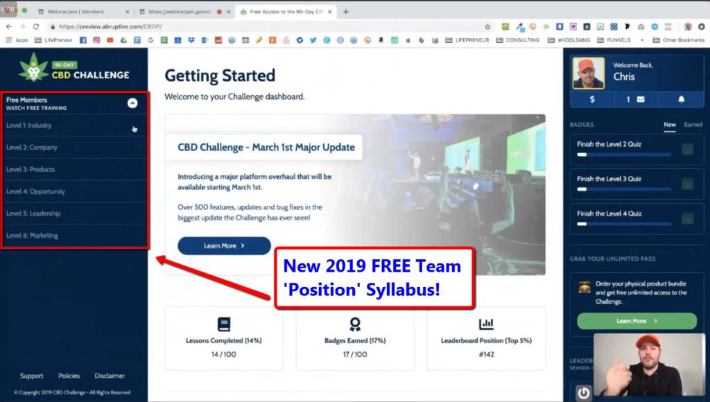 90 day CBD Challenge new 2019 syllabus - Chris Record