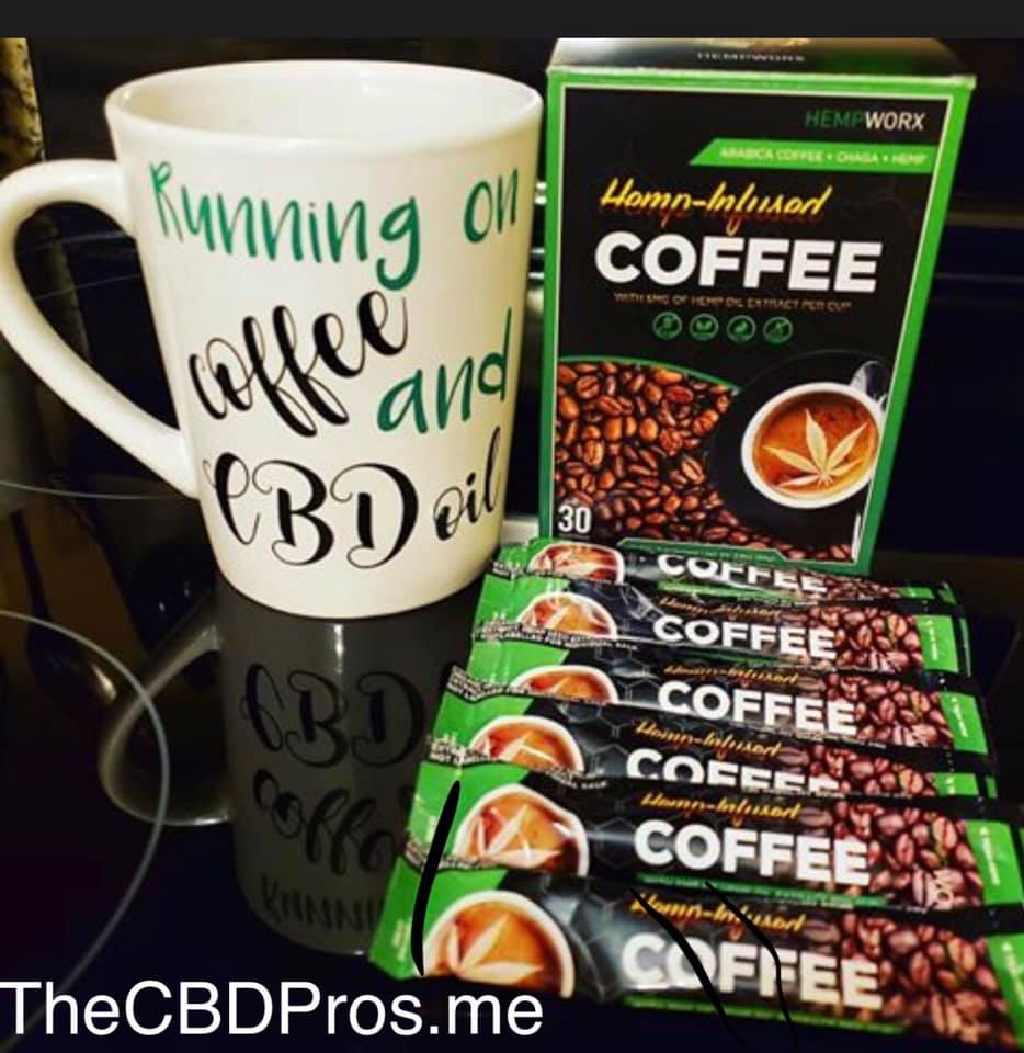 MyDailyChoice Hempworx Hemp-infused Coffee Running on Coffee and CBD oil Products