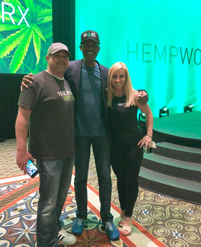 James Saunders Hempworx Stage with Christopher Livingston Jana Fogleman (Power Team)