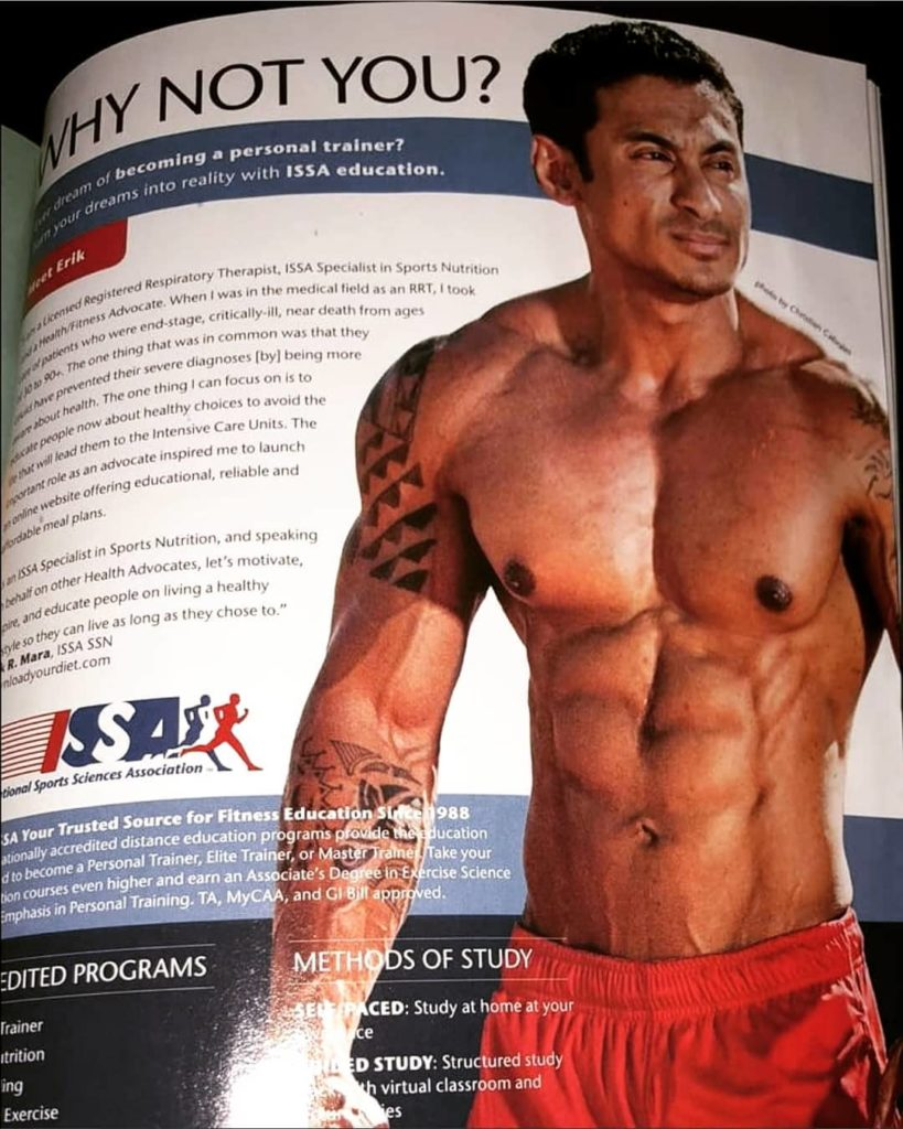 Erik Mara Muscle and Body Magazine - International Sports Sciences Association [ISSA]