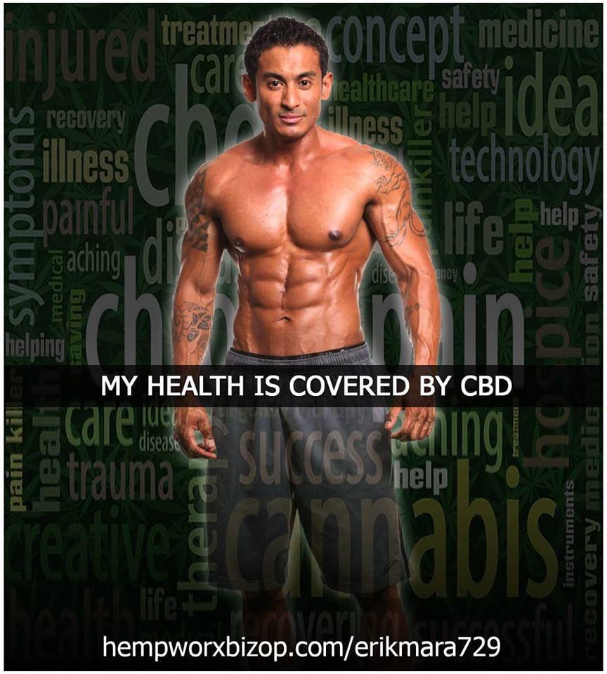 Erik Mara Hempworx - My Health is covered by CBD