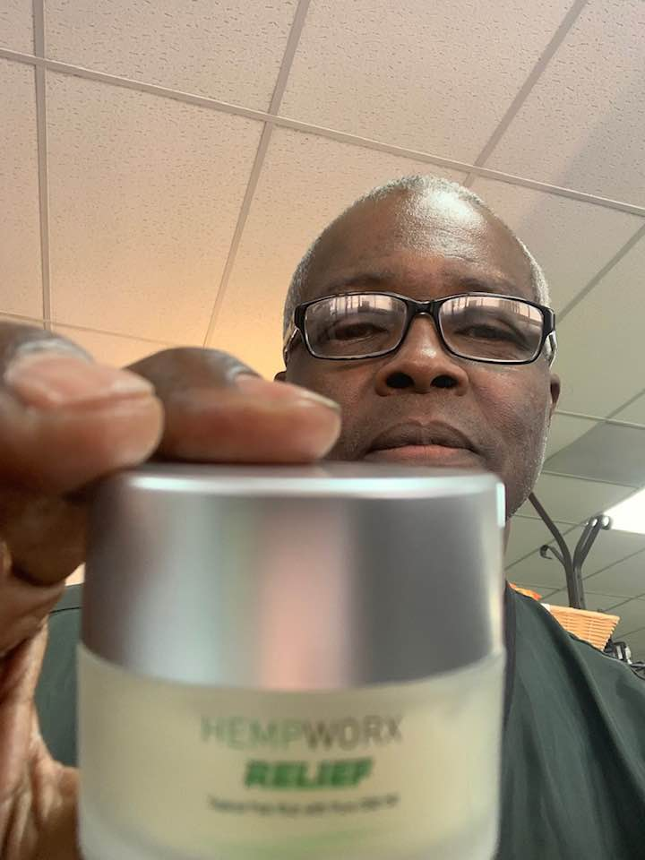 Alvert Epps Hempworx Relief Product CBD Infused