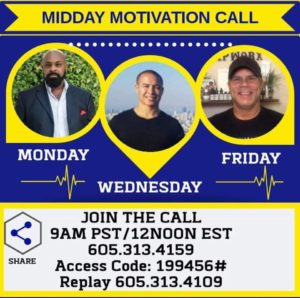Brian Cain Midday Motivation Call Details