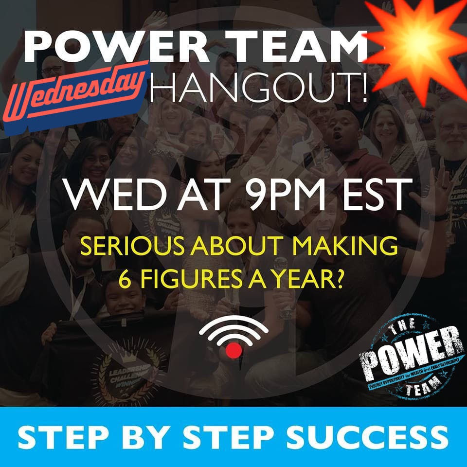 Power Team Hangout Step by Step Training