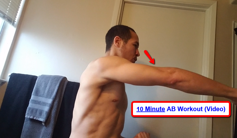 How to Get Abs Fast in Private Bathroom Mirror (10 Minute Workout) Arms, Core, Training Horse Stance