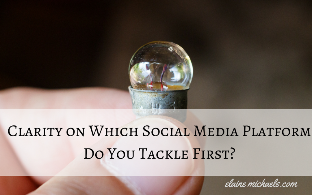 Clarity on Which Social Media Platform Do You Tackle First?