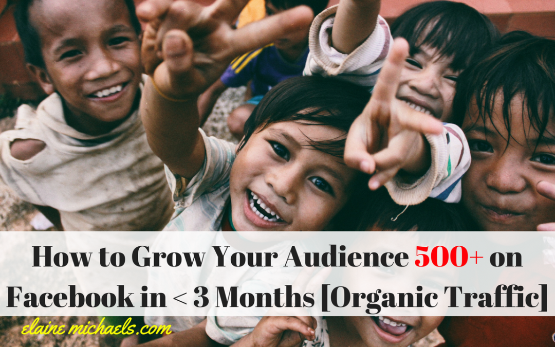 How to Grow Your Audience 500+ on Facebook in Less Than 3 Months [Organic Traffic]