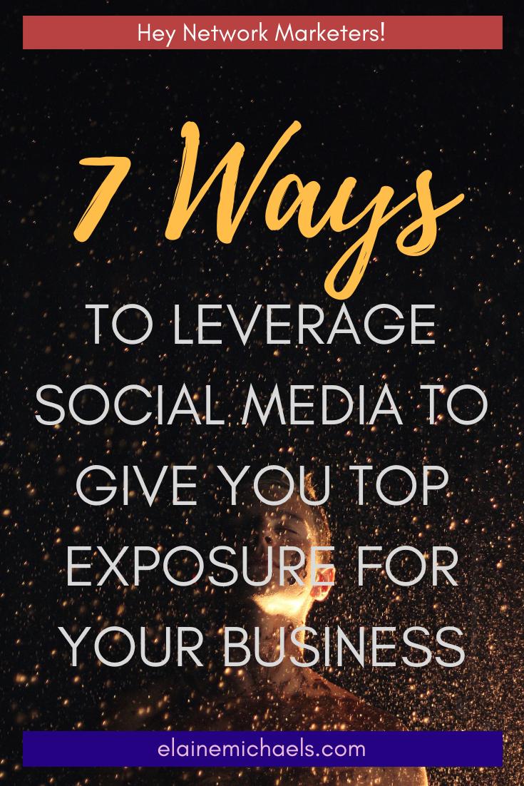 Leverage Social Media for Exposure