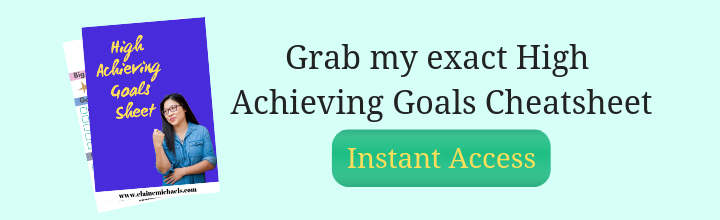 High Achieving Goals Cheatsheet