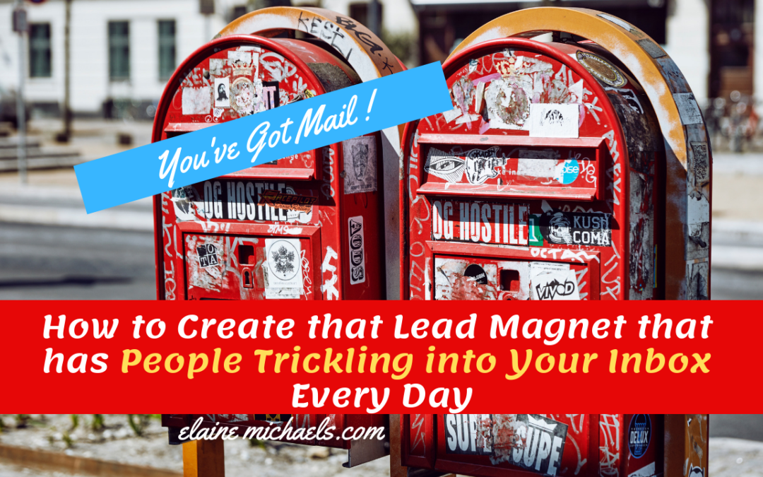 How to Create That Lead Magnet that has People Trickling into Your Inbox Every Day