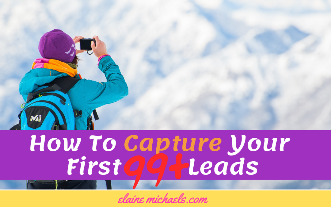 How To Capture Your First 99+ Leads