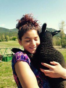 Hugs with baby Alaska