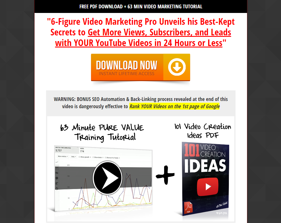 FREE Youtube Video Marketing Training