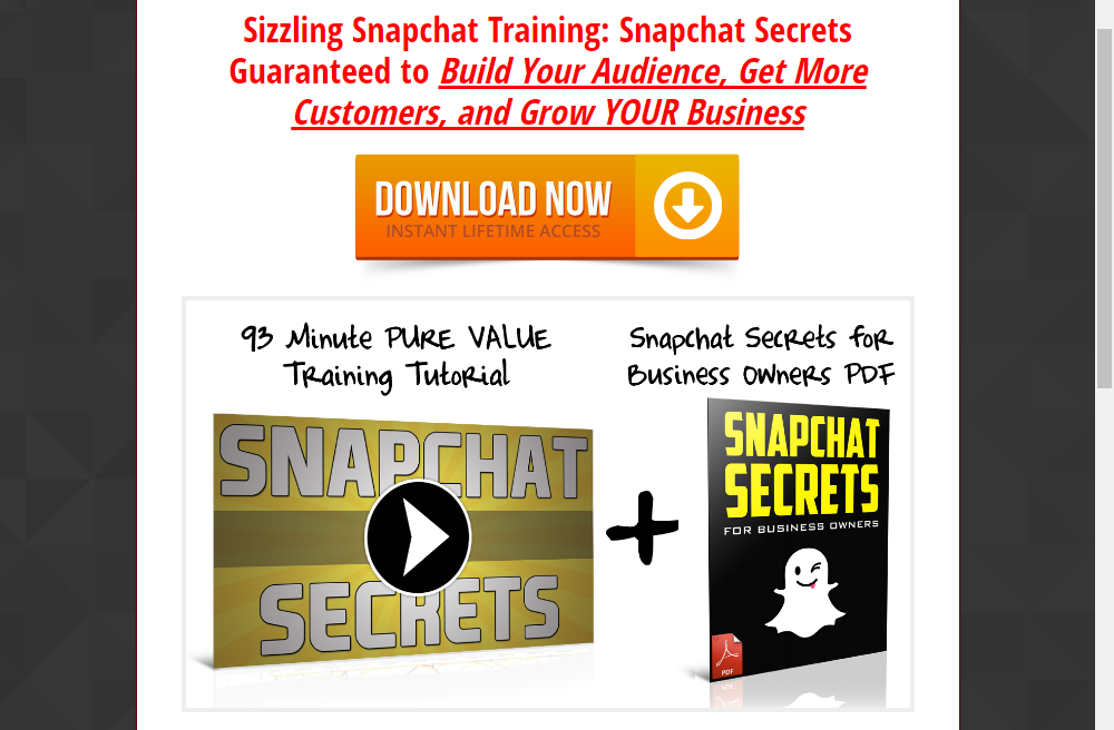 FREE Get Leads with SnapChat Training