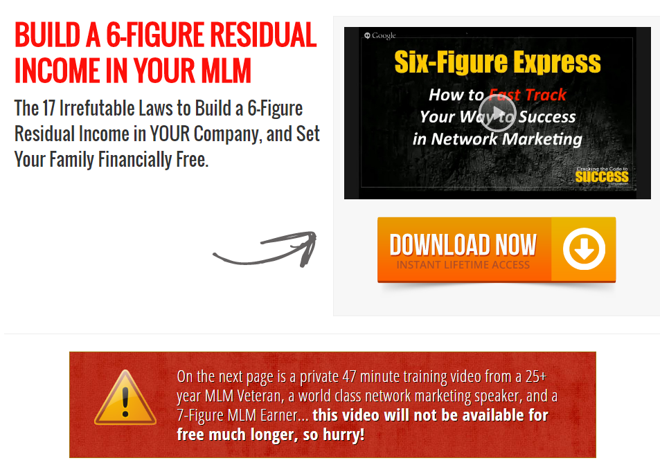 FREE, Build a 6 Figure Income With Your MLM Training