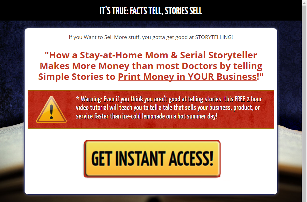 FREE Story Telling for Cash Secrets