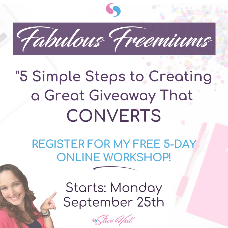 """Poster titled """"Fabulous Freemiums"""" …used for blog post entitled : """"How to create a lead magnet that people actually want."""""""