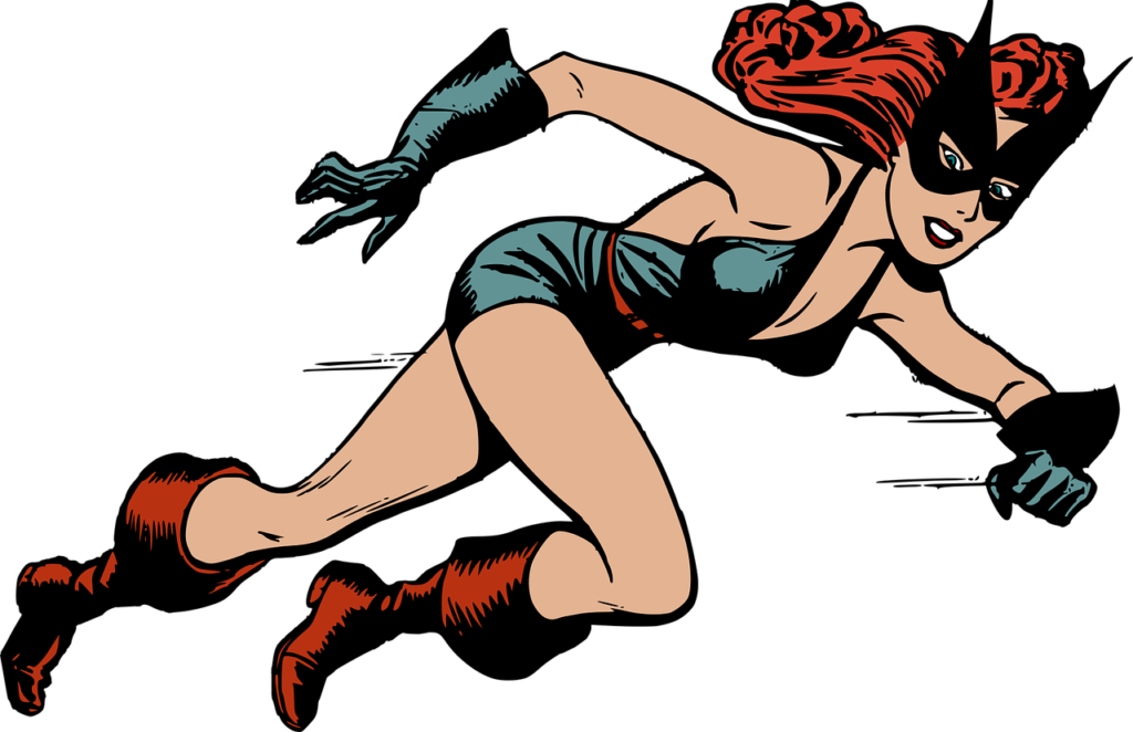 Female superhero ... used for blog post entitled: Prospecting Tips: How to properly pitch your deal to other marketers.