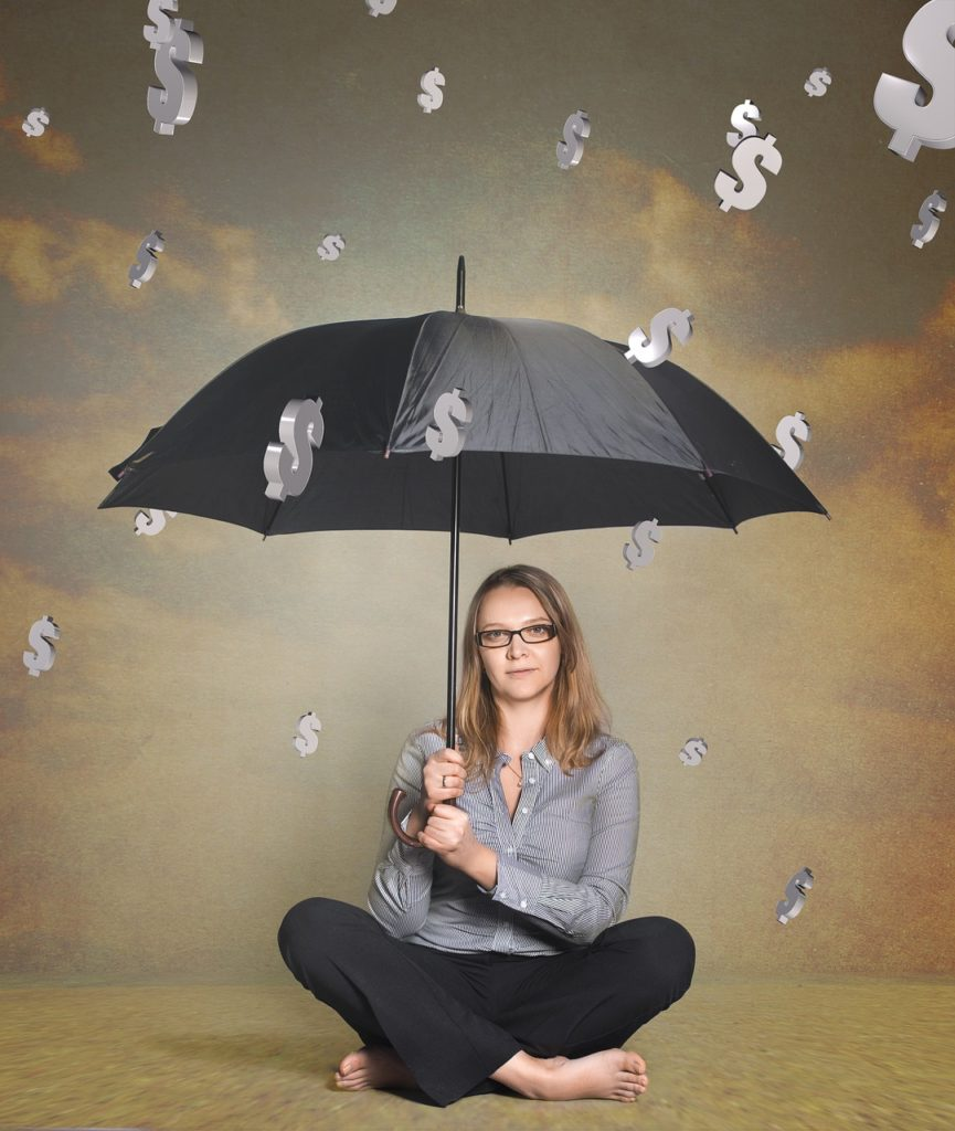"Image of girl with umbrella …used for the blog post entitled: ""Time to Finally Switch Network Marketing Companies?"""