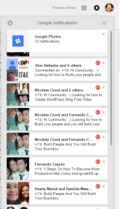 Google Plus notifications 2