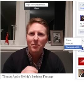 Facebook Live video show url