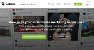 hootsuite social media sharing