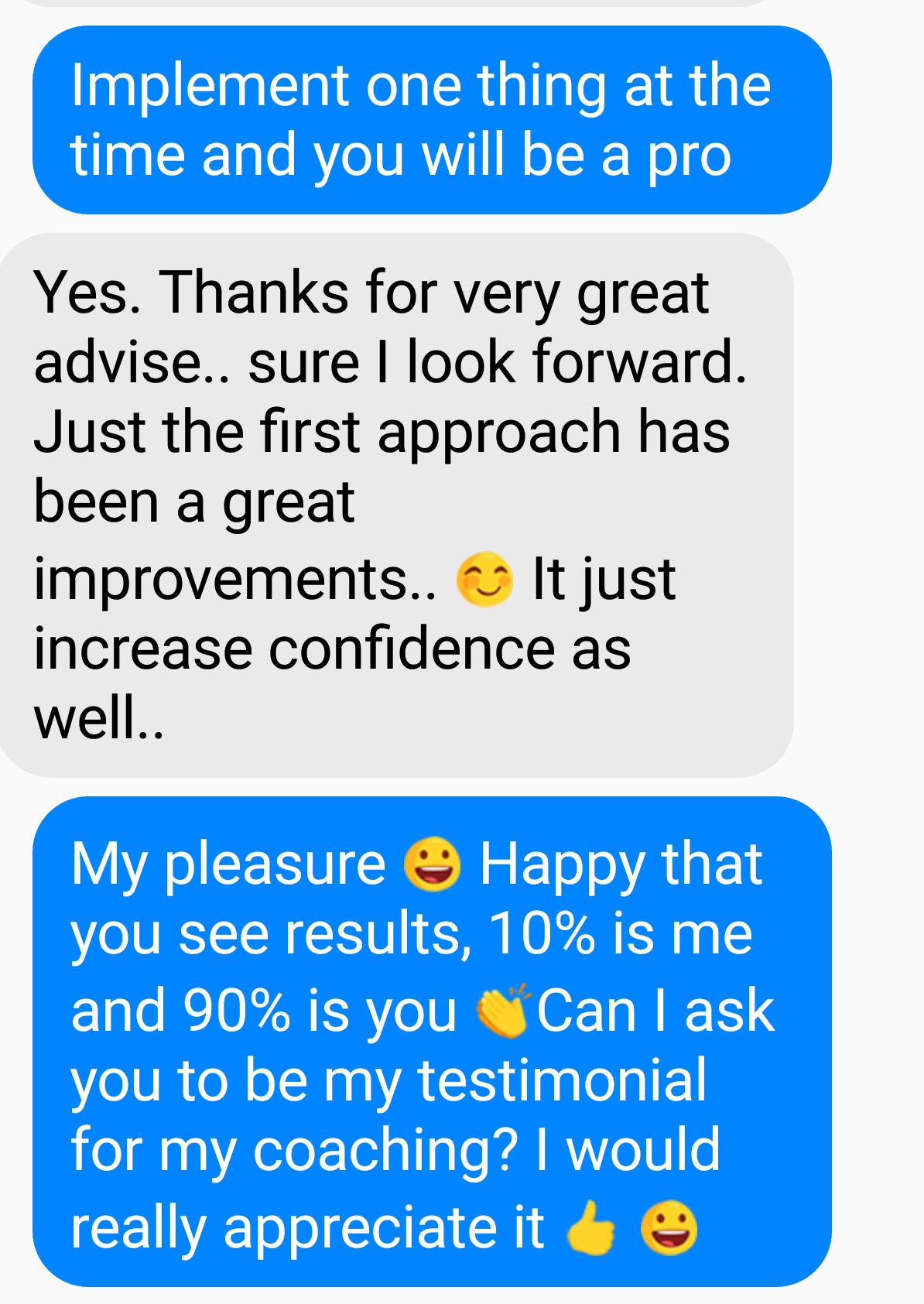 Happy Testimonial