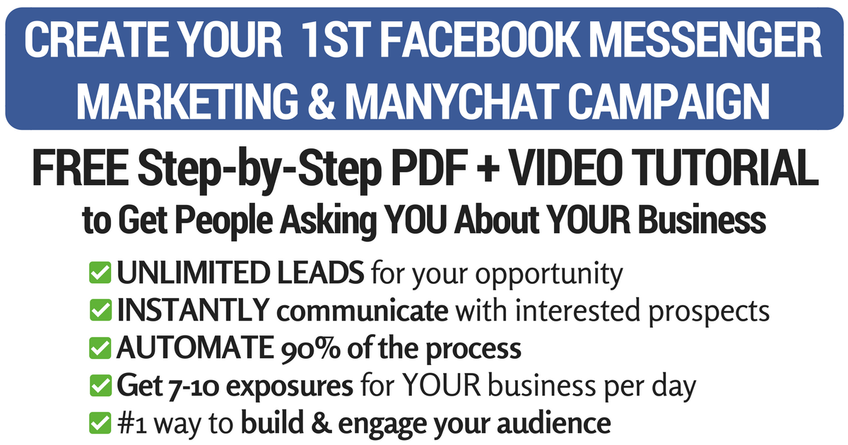 Create your 1st Facebook Messenger Marketing & Manychat campaign