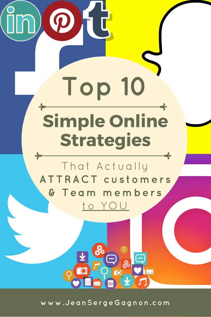 get Free eBook: Top 10 Simple Online Strategies that Actually Attract Customers and Team Members to YOU