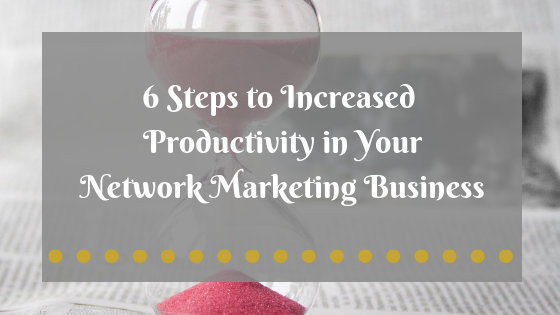 In this blog post 6 steps to increase business productivity for network marketers is explained using the Pomodoro Technique. A plan of action to start today is included along with 23 productivity secrets from a network marketing top earner. This information is for anyone looking to grow their online business, become a top-earner in network marketing or affiliate marketing, and for anyone that needs to get more done. #growinspiregive #productivitytips #networkmarking #networkmarketingtips #moneymindset #homebusinessforwomen #entrepreneurideas #networkmarketingsuccess