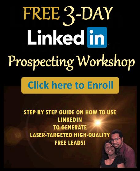 Enroll for the LinkedIn Prospecting Workshop