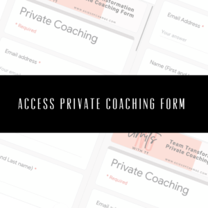 Team Transformation - Private coaching form