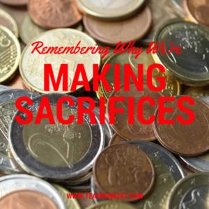 Making sacrifices{blog}